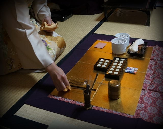 A moment in time- the handling and careful layout of the incense utensils is an art refined by years of practice