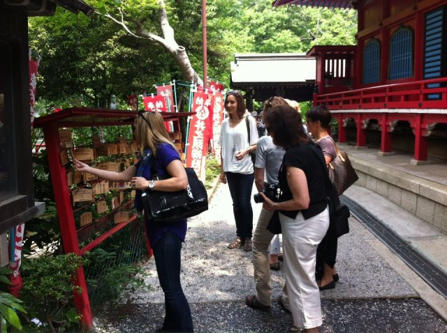 Kichijoji walking tour- at the shrine in Inokashira park