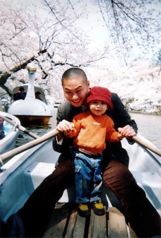 Boats on Inokashira pond, 2001