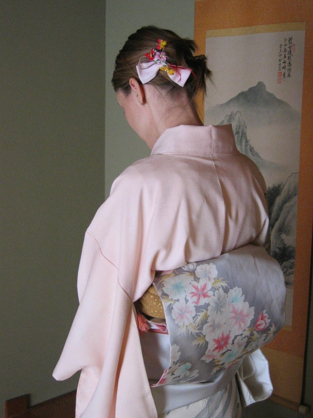 Wearing kimono, 2004