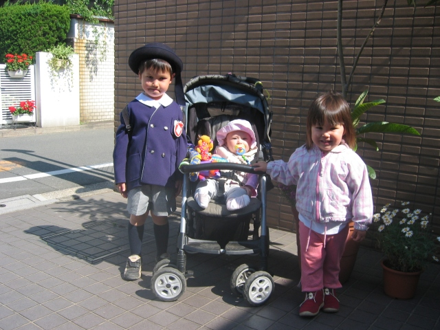 Walking to preschool, 2003