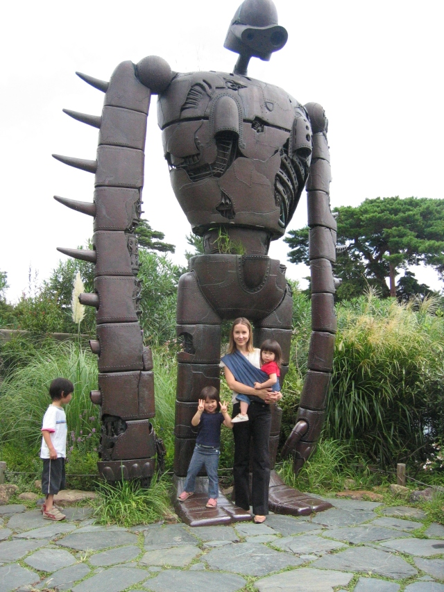 At the Ghibli museum in 2004